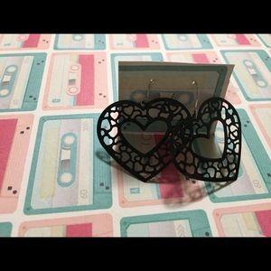 *5/$15* black heart earrings